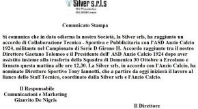 COMUNICATO STAMPA SILVER S.R.L.