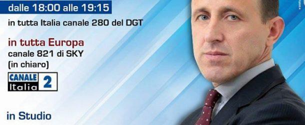 """Questa sera ore 18:00 """"Il Calcio è Servito"""" , canale Nazionale 282 del DGT e a Diffusione Europea Sky 821."""