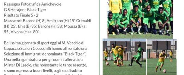 """FINISCE 5-2 L'AMICHEVOLE TRA """"G.S.HERAJON-BLACK TIGERS"""""""