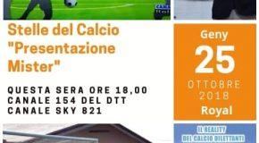 """QUESTA SERA ORE 18:00 CANALE 154 DEL DTT E 821 DI SKY """"PRESENTAZIONE MISTER"""" STELLE DEL CALCIO"""