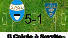 COPPA ITALIA: SPAL-LECCE 5-1 , IL TABELLINO E LE PAGELLE